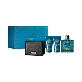 Versace - Eros for Men (Kvepalai Vyrams) EDT 100ml + 50ml Shower gel + 50ml After shave balm + Wallet