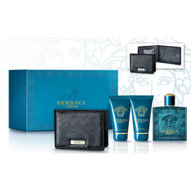 Versace - Eros for Men (Kvepalai Vyrams) EDT 100ml + 50ml Shower gel + 50ml After shave balm + Wallet
