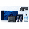 Versace Pour Homme for Men ( Rinkinys vyrams) EDT 100ml+Body Shampoo 50ml+After Shave Balm 50ml+ Black Wallet