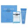 Versace Man Eau Fraiche for Men ( Rinkinys vyrams) EDT 100ml +100ml Shower Gel