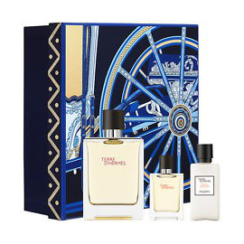 Hermes Paris Terre D'Hermes Parfum for Men (Rinkinys Vyrams) EDP 75ml + EDP 12.5ml + 40ml After Shave Balm