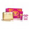 Versace Bright Crystal Absolu for Woman (Rinkinys Moterims) EDP 90ml + Body Lotion 100ml + Cosmetics bag