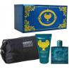Versace - Eros for Man (Rinkinys Vyrams) EDT 100ml + Shower Gel 100ml + Cosmetics bag