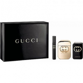 Gucci Guilty for Women (Rinkinys Moterims) EDT 75ml + 100ml Body Lotion + EDT 7.4ml