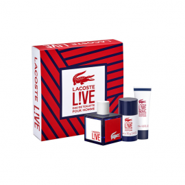 Lacoste - Live for Man (Rinkinys  Vyrams) EDT 100ml +50 ml Shower Gel +75ml Deodorant Stick