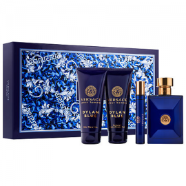 Versace Dylan Blue pour homme (Rinkinys Vyrams) EDT 100ml + EDT 10ml Miniatiure + 100ml Shower Gel + 100ml After Shave Balm
