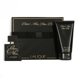 Lalique Encre Noire pour Elle for Women(Rinkinys Moterims) EDP 100ml + 150ml Shower Gel