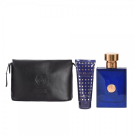 Versace Dylan Blue for Men (Rinkinys Vyrams) EDT 100ml  + Shower Gel 100ml + Cosmetics Bag