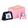 Versace Bright Crystal for Women (Rinkinys Moterims) EDT 90ml + Body Lotion 100ml + Cosmetics bag