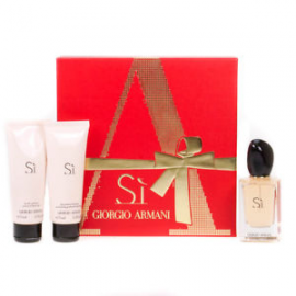 Giorgio Armani Si  for Women (Rinkinys moterims) EDP 50ml +75ml Body Lotion + 75ml Shower Gel