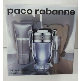 Paco Rabanne Invictus for Men (Rinkinys Vyrams) EDT 100ml + 10ml EDT + 75ml Shampoo