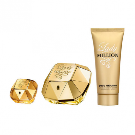 Paco Rabanne Lady Million for Women (Kvepalai moterims) EDP 80ml + 5ml EDP + 100ml Body Lotion
