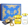 Versace Yellow Diamond Intense for Women (Rinkinys Moterims) EDP 100ml + 100ml Body Lotion + Bag tag