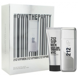 Carolina Herrera 212 VIP for Men (Rinkinys vyrams) EDT 100ml + Shower Gel 100ml