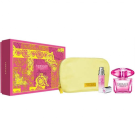 Versace Bright Crystal Absolu for Woman (Rinkinys Moterims) EDP 90ml + Body Lotion 100ml + Cosmetics bag
