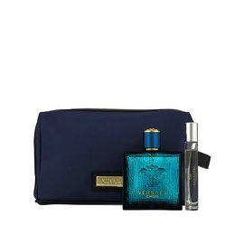 Versace Eros for Men (Rinkinys Vyrams) EDT 100ml + EDT 10ml + Blue Cosmetics bag