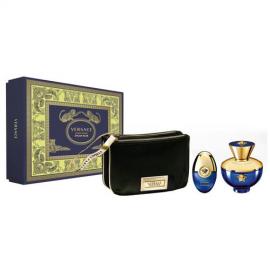 Versace Dylan Blue Pour Femme (Rinkinys Moterims) EDP 100ml + EDP 10ml + Cosmetics bag