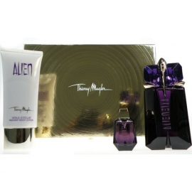Thierry Mugler Alien for Women (Rinkinys Moterims) EDP 60 ml + kūno losjonas 100 ml + EDP 6 ml + kosmetinė