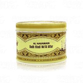 Smilkalai Al Haramain Oudh Hindi Ma'al Attar Bukhoor 50gr (BE PAKUOTĖS)