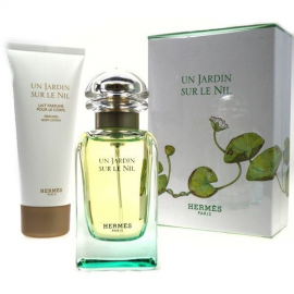 Hermes Un Jardin Sur Le Nil for Woman (Rinkinys Moterims) EDT 50ml + 75ml Body lotion